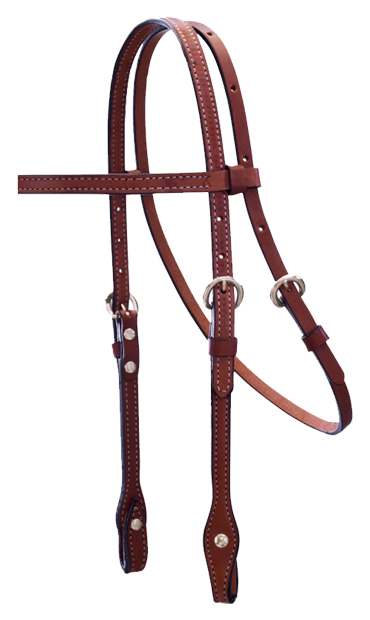 CHOCOLATE BROW BAND HEADSTALL