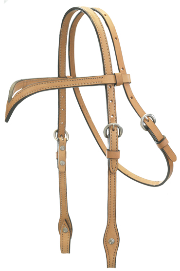 RUSSET V-BROW HEADSTALL