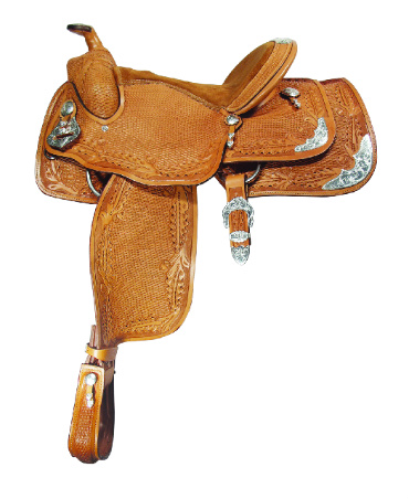 OAKLEAF TOOLED SHOW SADDLE