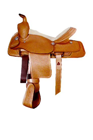 Basket Tooled Pleasure Saddle