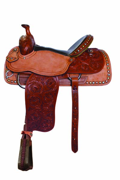 FLORAL TOOLED ROUGH OUT ROPER