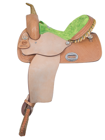 GEO TOOLED BARREL RACER, SUEDE SEAT
