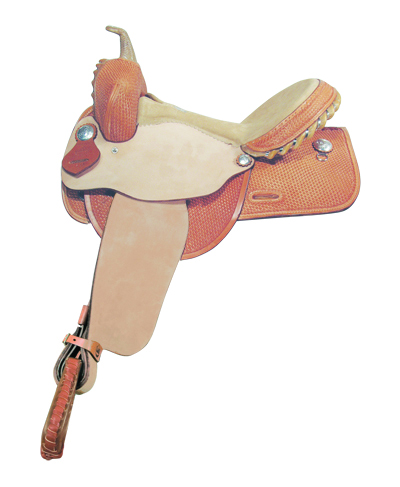 BASKET TOOLED BARREL SADDLE