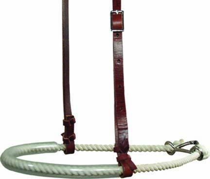 NOSEBAND w SINGLE ROPE, PLASITIC COVER