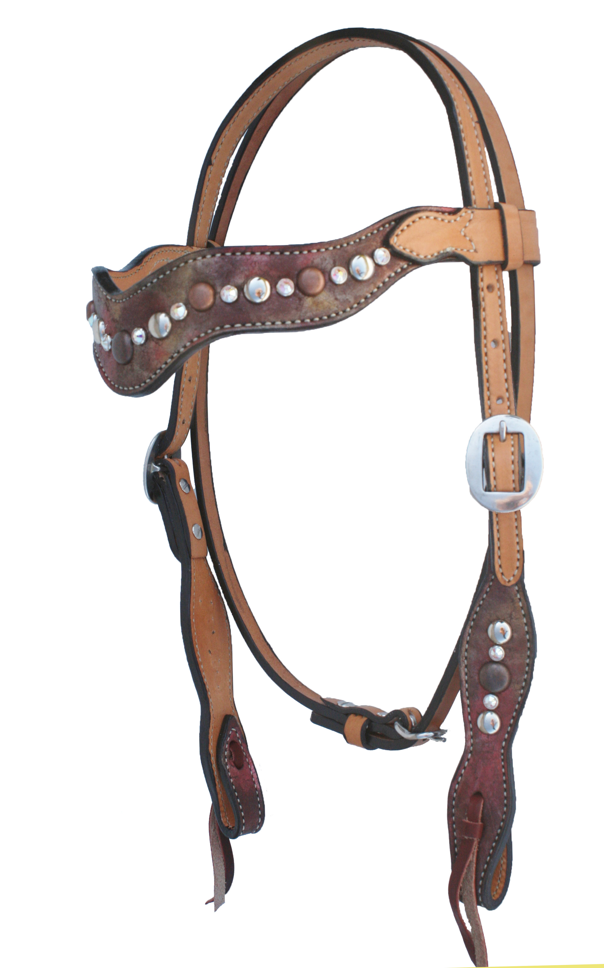 COPPER METALLIC WAVE STYLE HEADSTALL