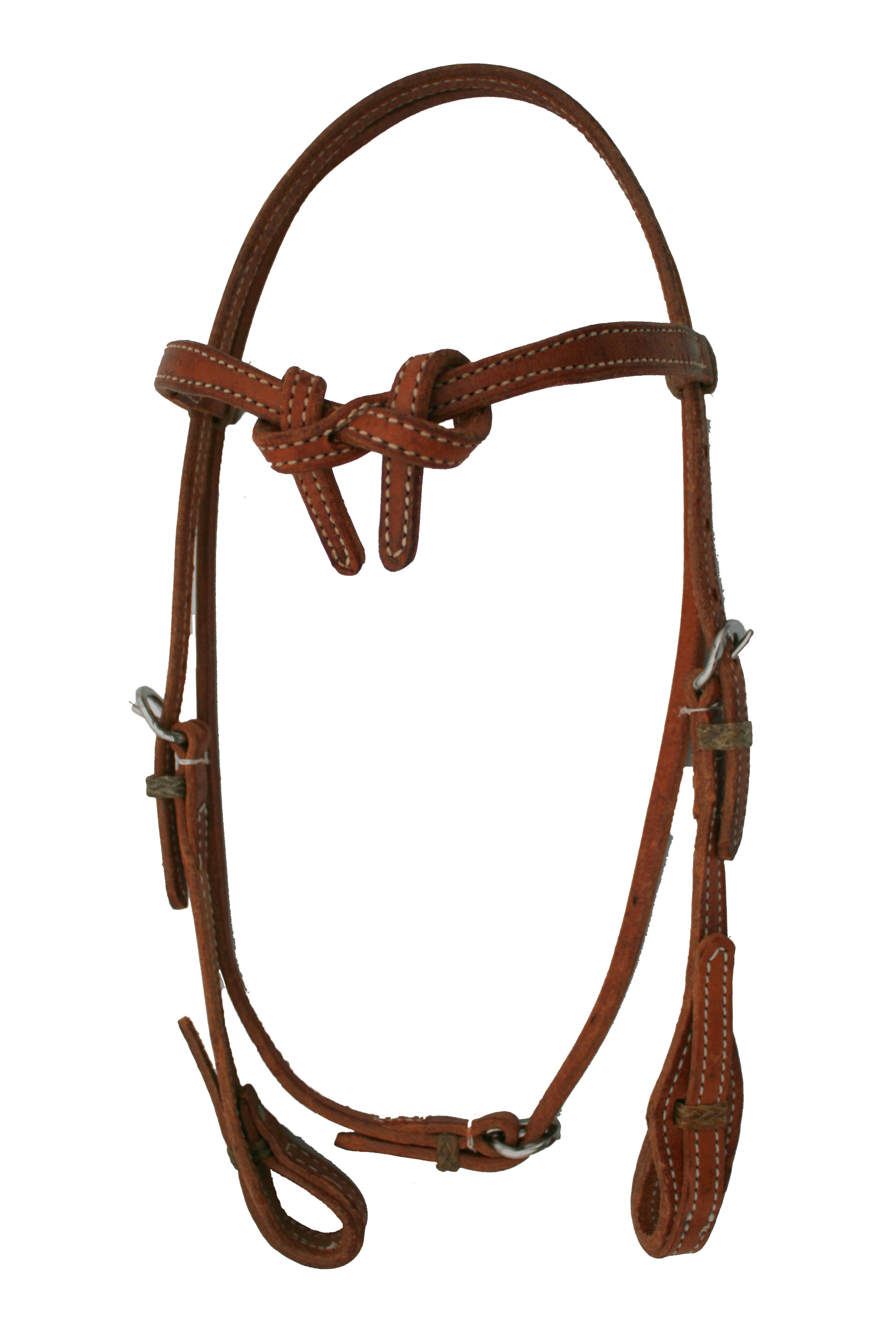 HEADSTALL BROW HERMANN OAK LEARTHER, RAWHIDE LOOP