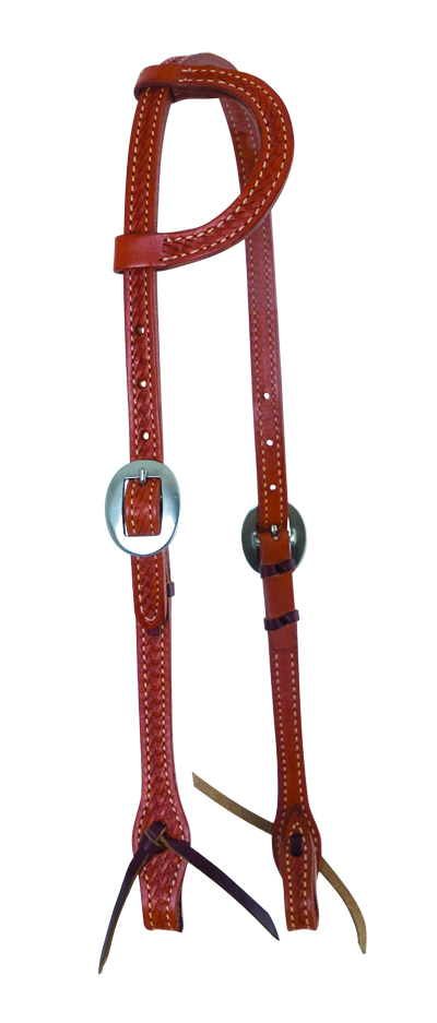 ELITE CHESTNUT ONE EAR HEADSTALL WITH BASKET TOOL