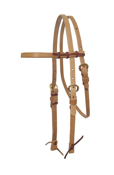 HARNESS LEATHER BROW BAND HEADSTALL