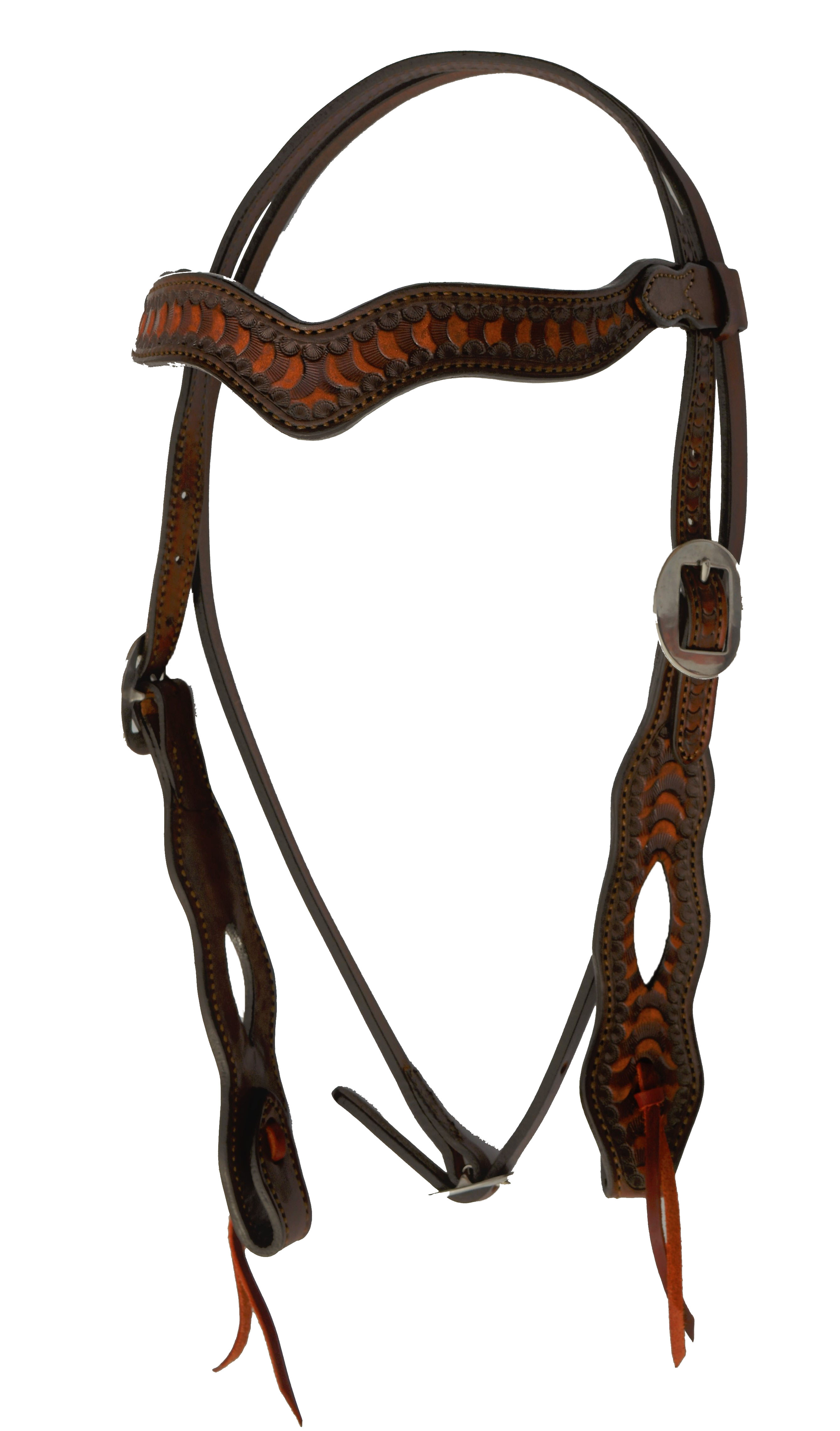 2417 WAVE STYLE HEADSTALL WITH WAVE TOOLING