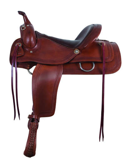 1065- CHOCOLATE FLEX TRAIL SADDLE