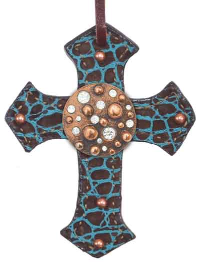 108-MG(C) CROSS w MINI GIRAFFE OVERLAY, CI CONCHO