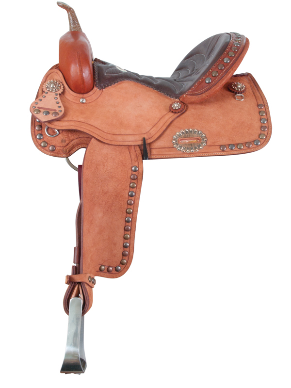 1274-TRI TRI-SPOTTED BARREL SADDLE