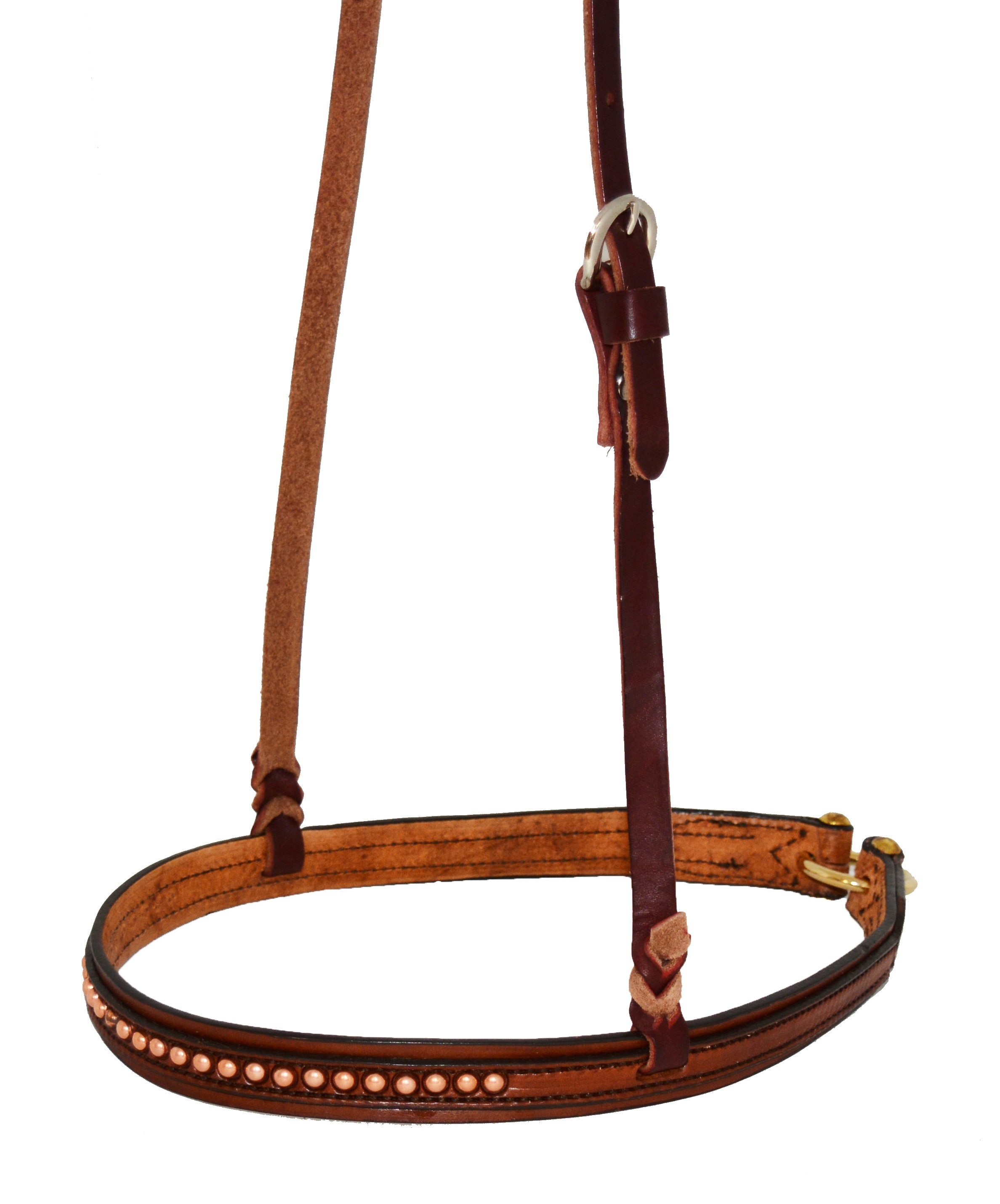 2000-TCP noseband toast leather w/ copper spots.