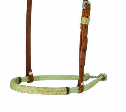 2000-HBI NOSEBAND w NATURAL BRAIDING
