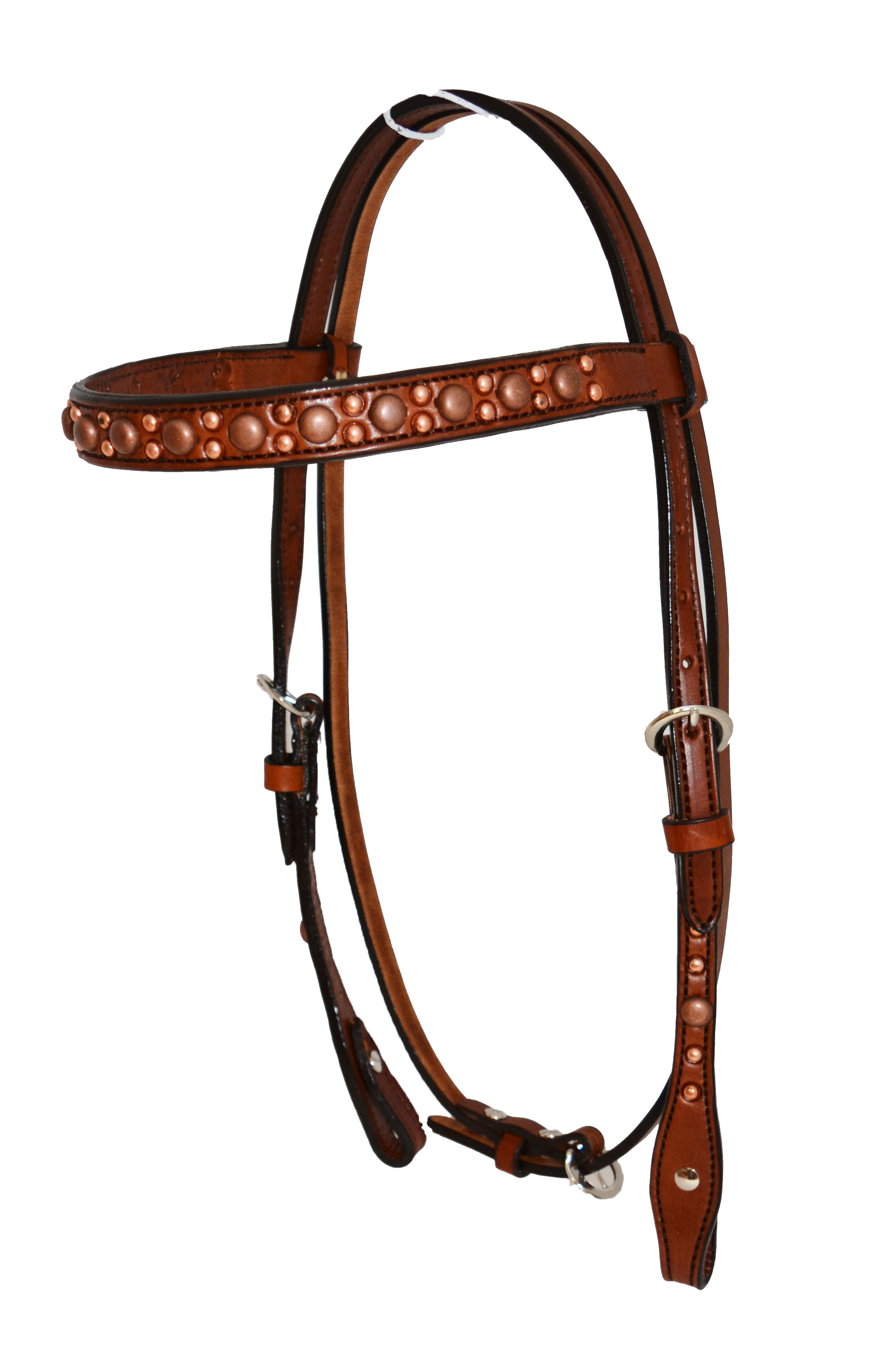 2014-TC HEADSTALL w COPPER SPOTS