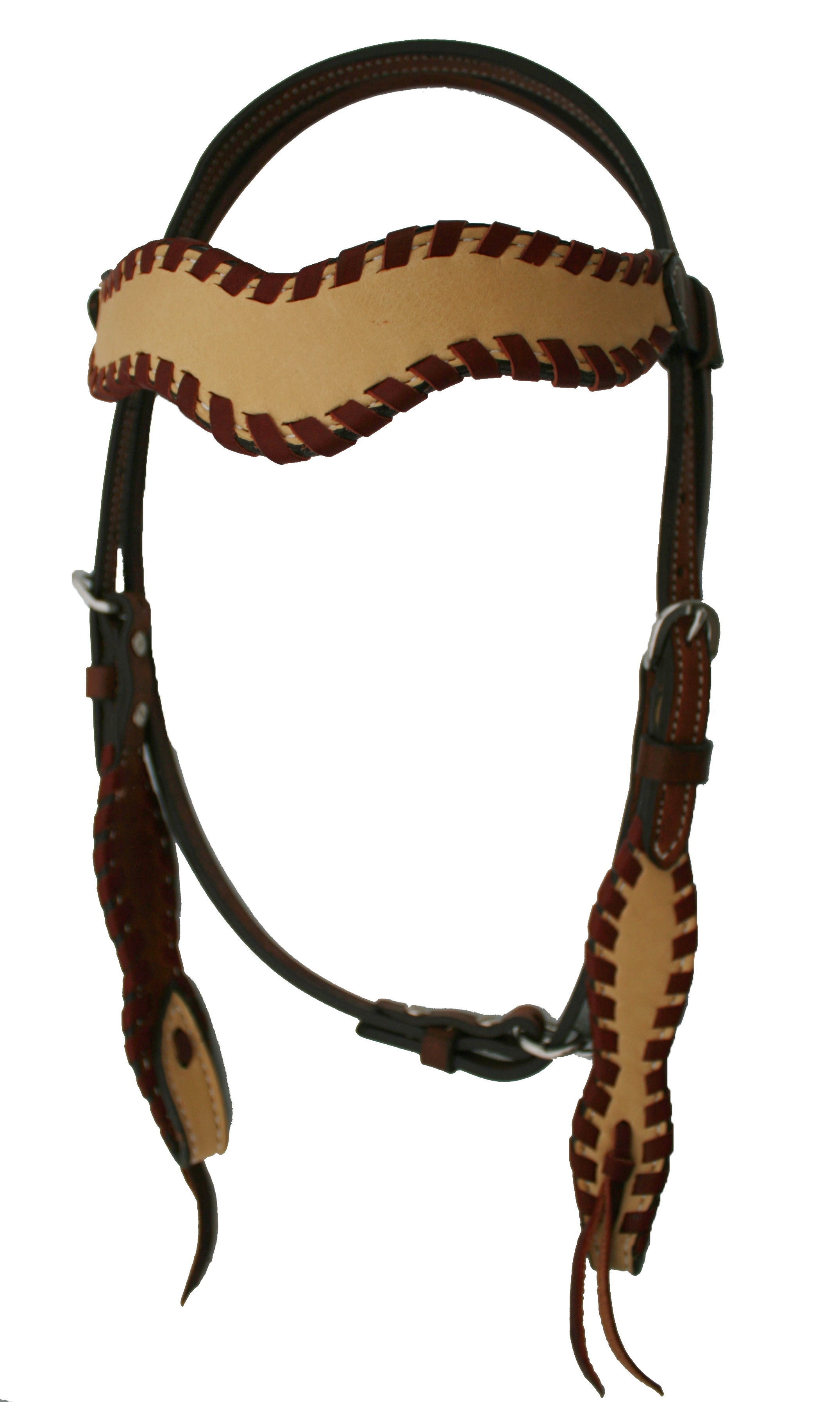 WAVE STYLE HEADSTALL w WHIP LACE