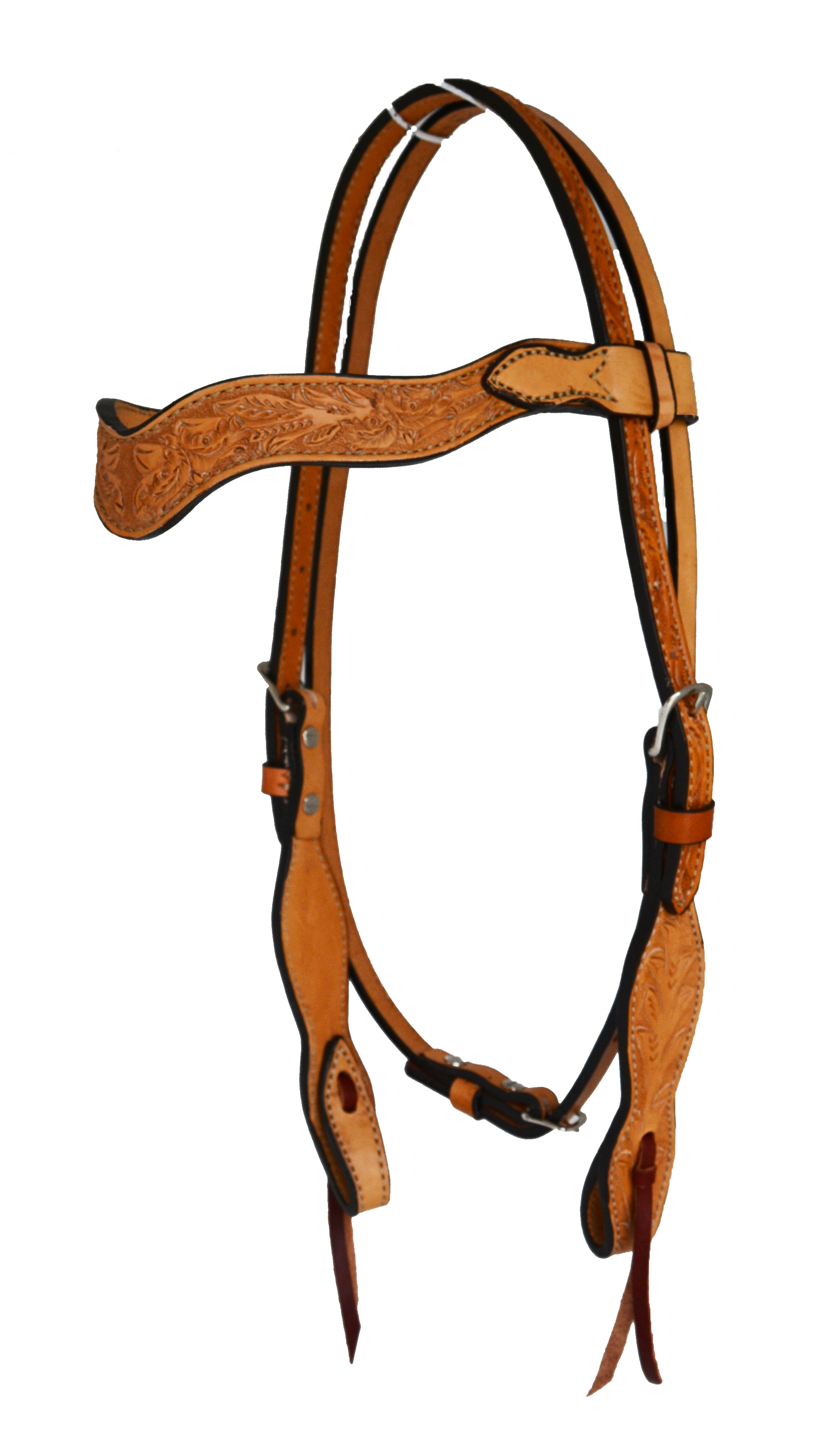 SLEEK WAVE RAVE HEADSTALL w COLONIAL TOOLING