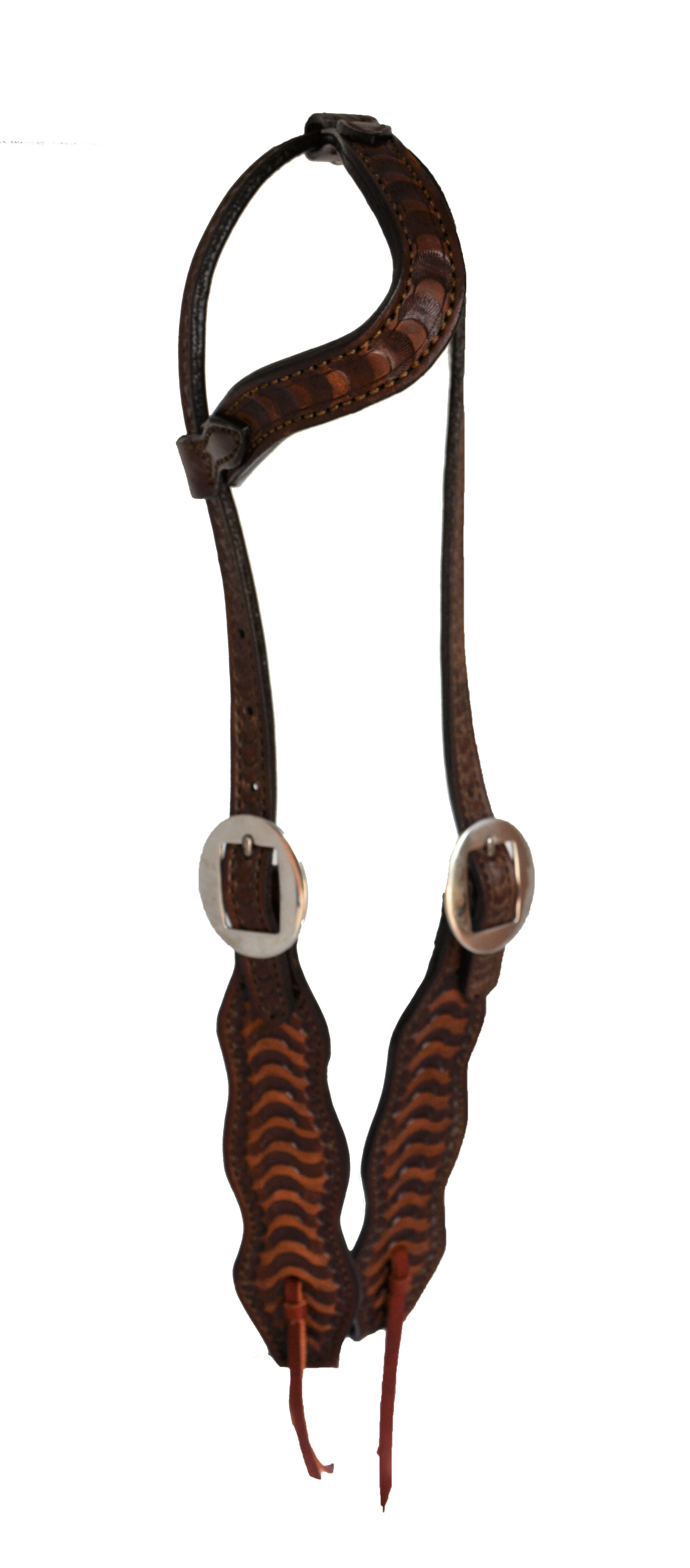 2474 ONE EAR WAVE HEADSTALL WITH WAVE TOOLING