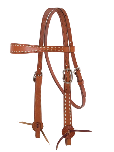 2800-TBS HEADSTALL OLD TIMER, BUCKSTITCH