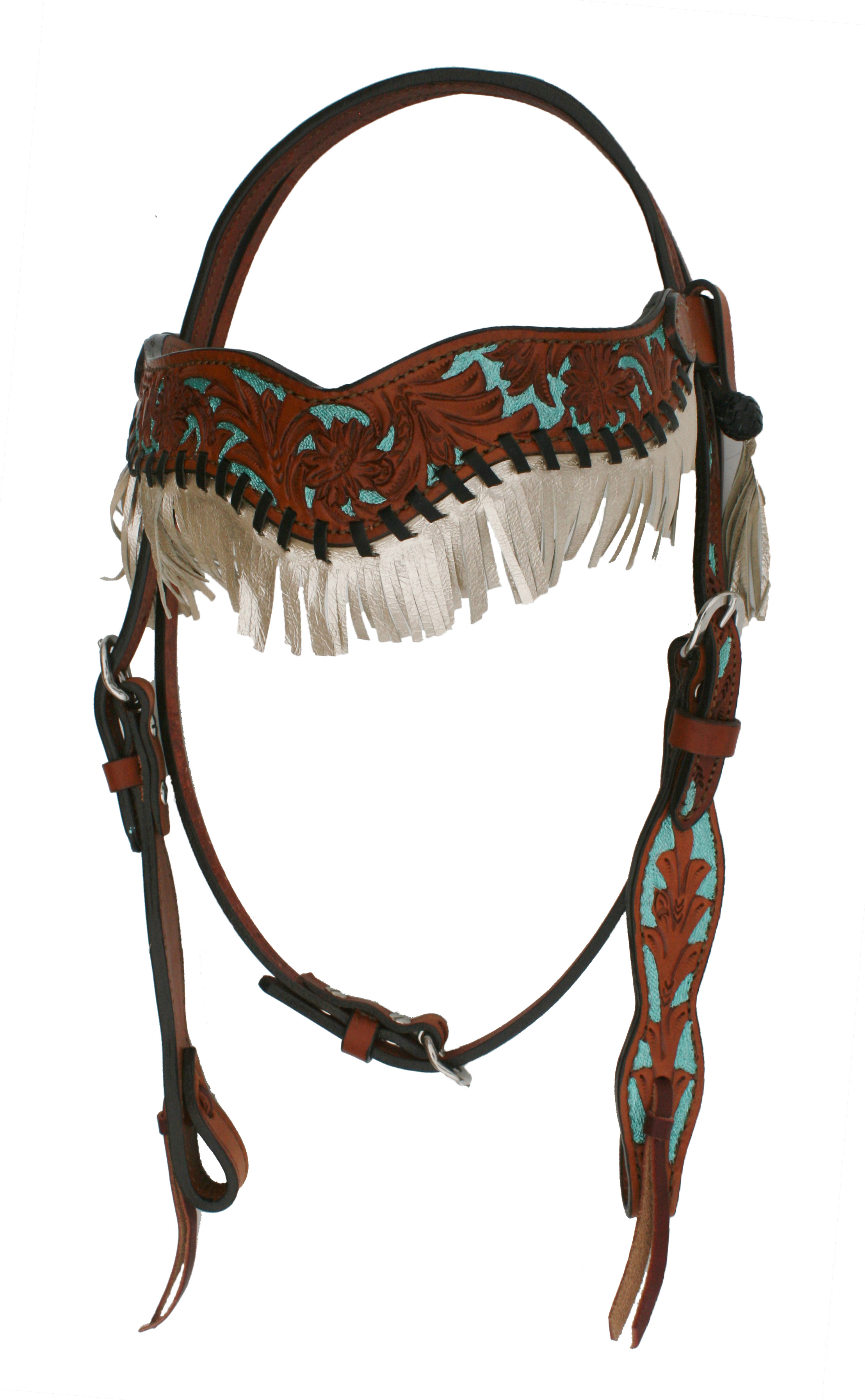 2F17-FT Metallic Fringe Headstall