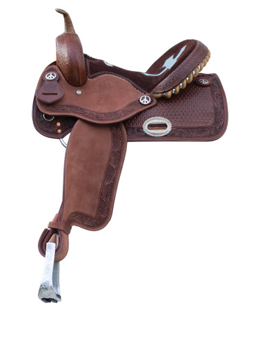 1204 Chocolate Barrel Saddle, Cross Cut-Out