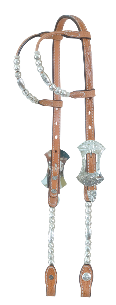 2073-F Double ear ferrel show headstall
