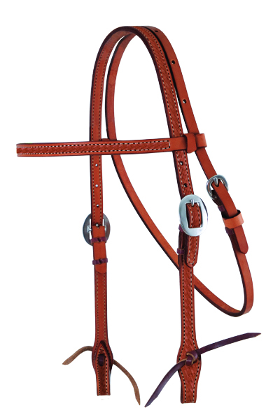ELITE CHESTNUT STRAIGHT BROW HEADSTALL
