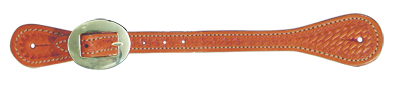 E-387-K ELITE RUSSET SPUR STRAPS WITH BASKET TOOLING