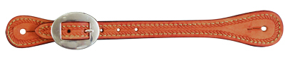 ELITE ROUGH OUT RUSSET SPUR STRAP WITH ROPE TOOLING