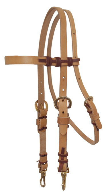 2033 HARNESS LEATHER TRAINING HEADSTALL