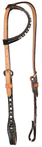 2071-JGA BLACK GATOR ONE EAR HEADSTALL