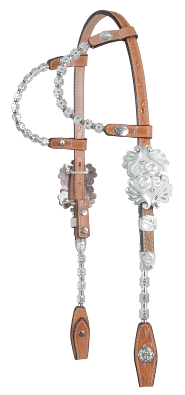 2073-SIF DOUBLE ROUND EAR SHOW HEADSTALL