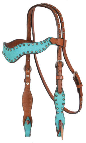2117-TM WAVE STYLE TURQUOISE MARBLE HEADSTALL