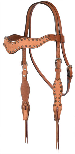 2117-ROT WAVE STYLE TOAST ROUGH OUT HEADSTALL