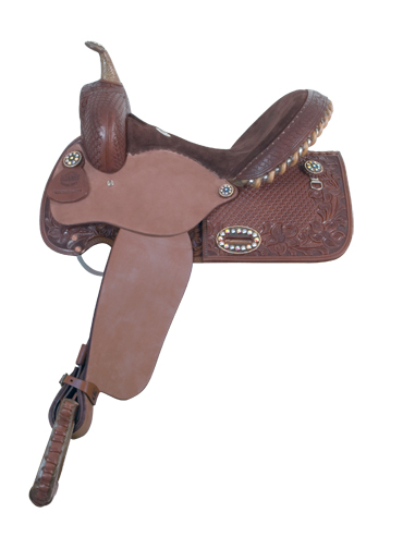 1275-3M Chocolate Barrel Saddle