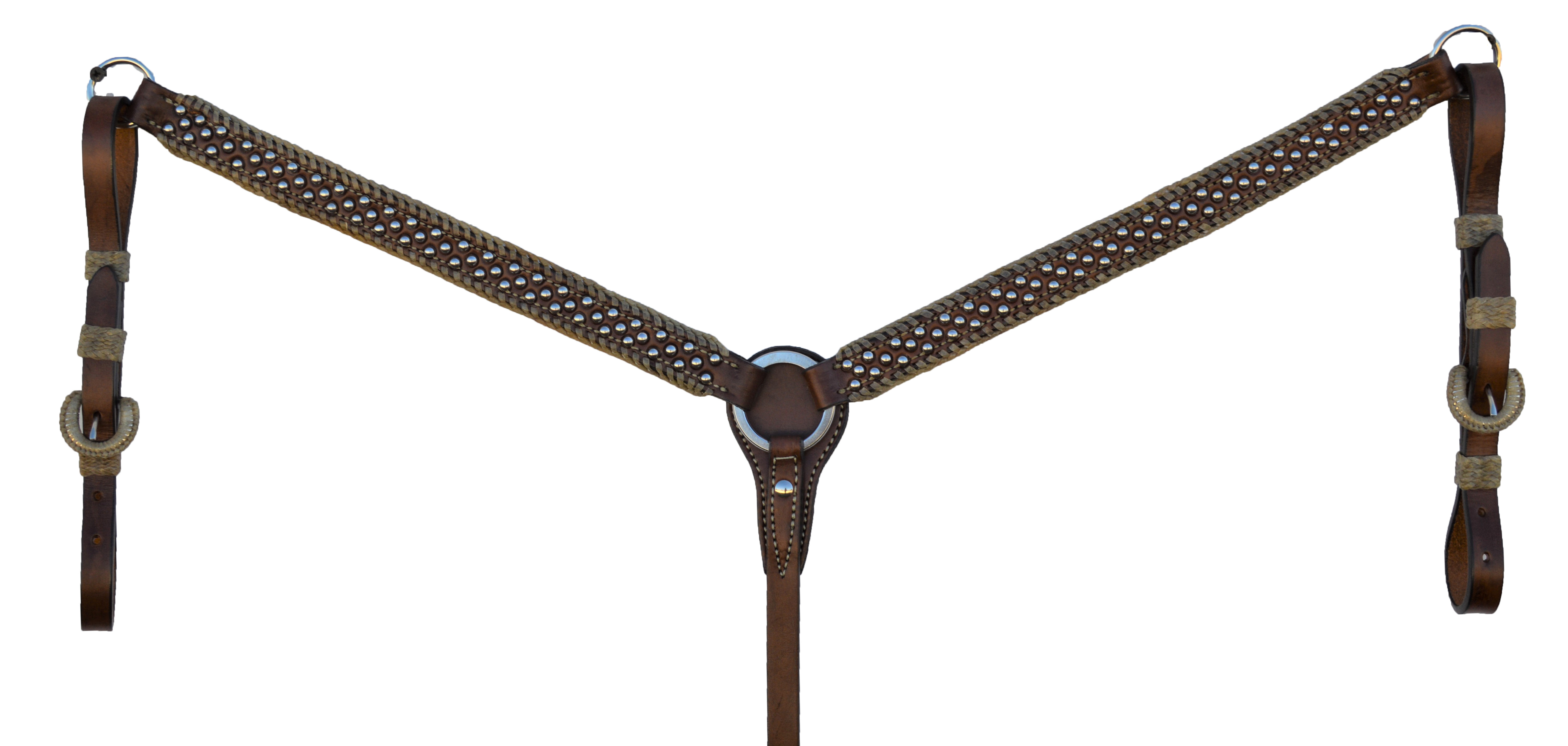 STRAIGHT BREASTCOLLAR WITH SPOTTING AND SPANISH LACING