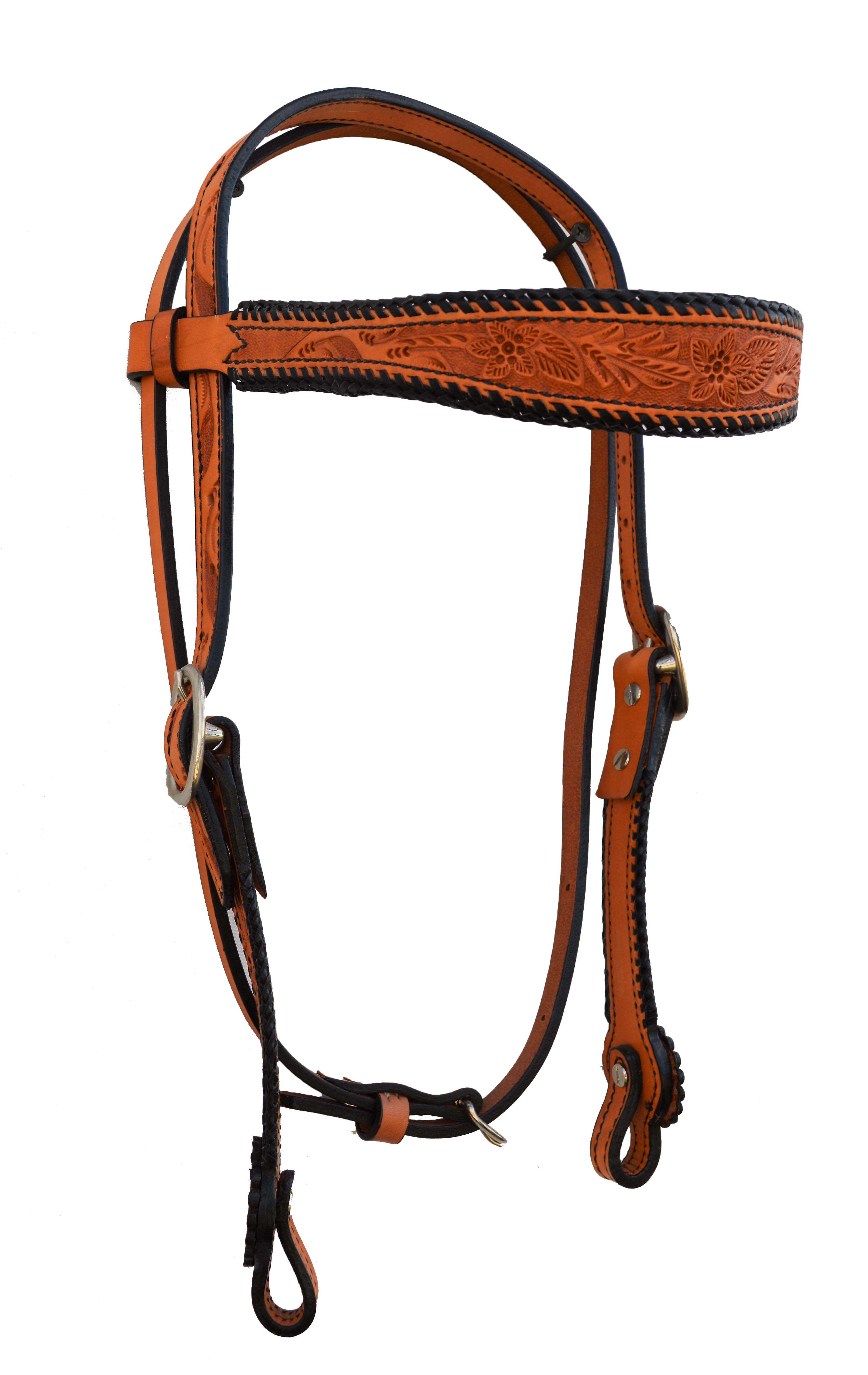 Russet Headstall w/ Tooling
