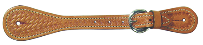 370-K Basket Stamped Ladies/Kids Spur Straps