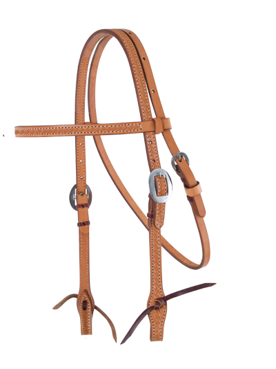 E-2015-K Elite Basket Stamped Headstall Straight Cut