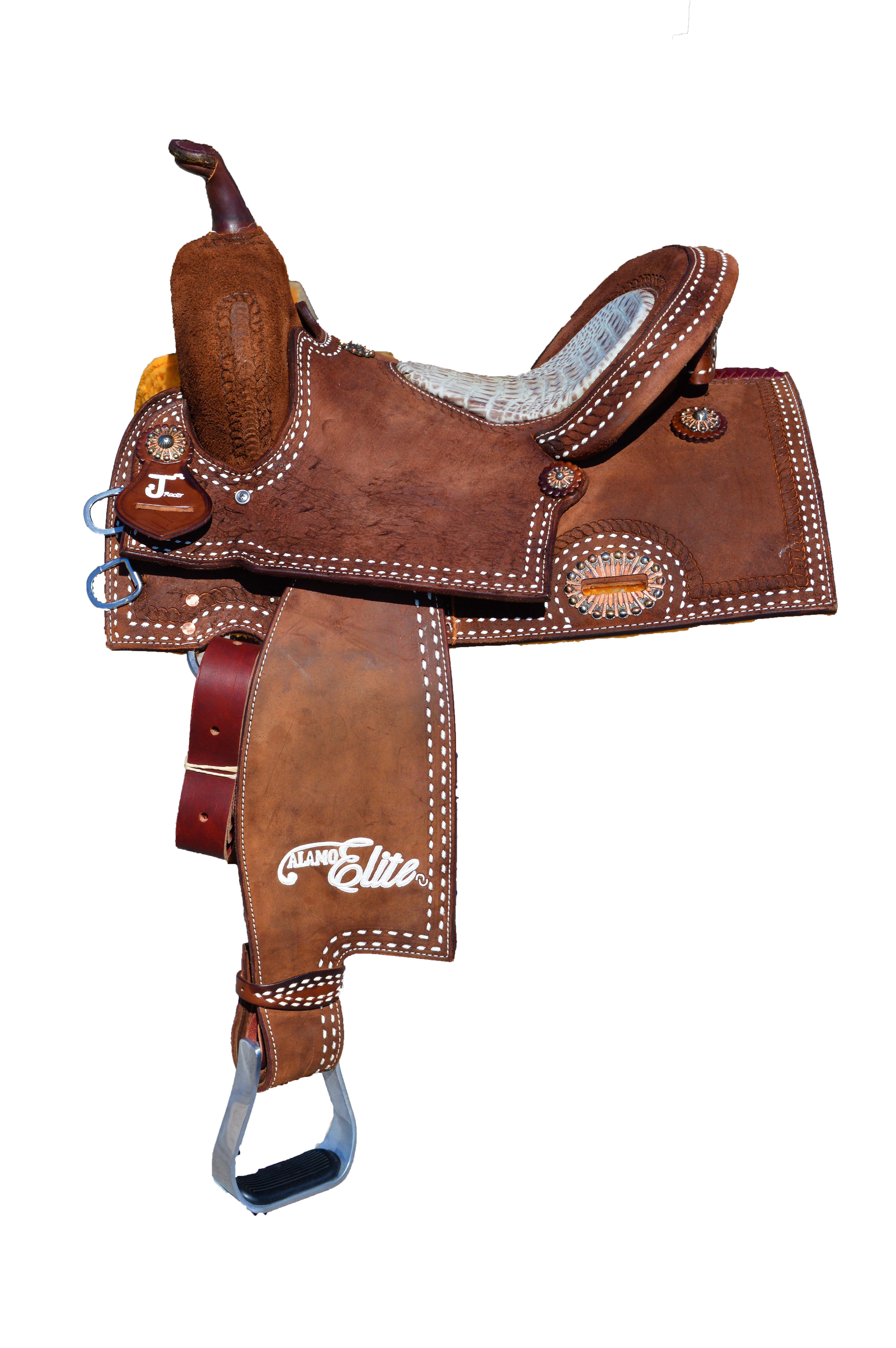 Sherrylynn Johnson Full Roughout Barrel Saddle