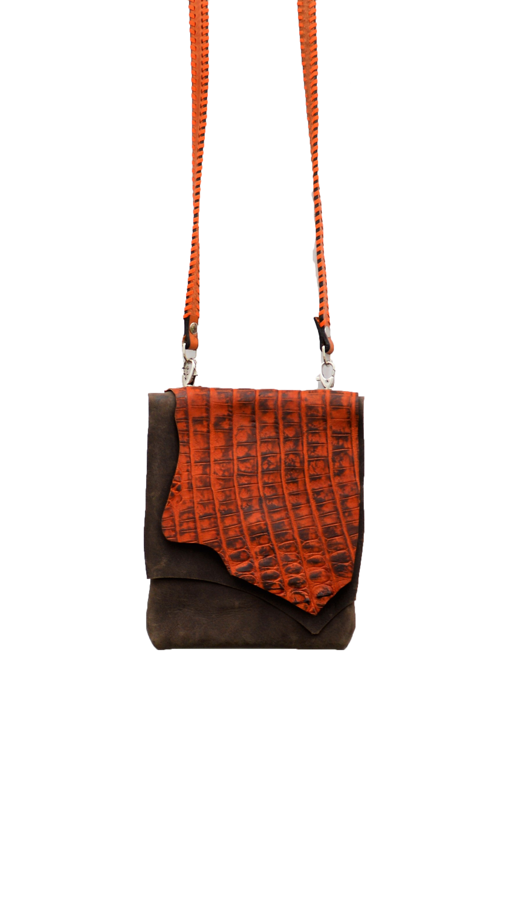 Red Orange Gator Purse