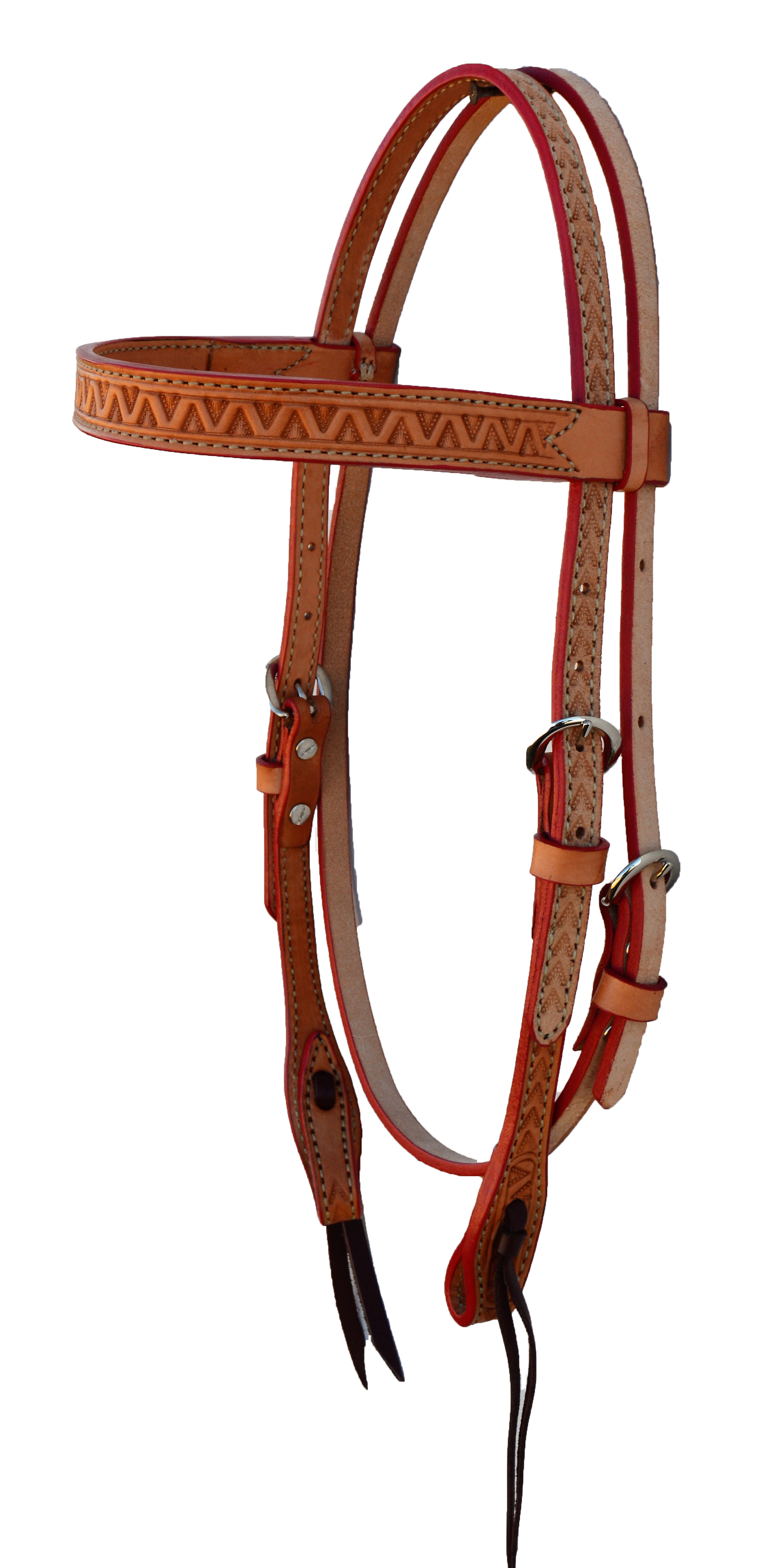 2014-V Head Stall Straight Style; Light leather w/ Roughout with