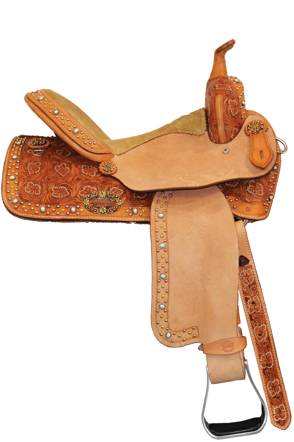 SD-7 Golden Sunset Barrel Saddle
